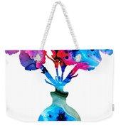 Fresh Cut - Vibrant Flowers Floral Painting Weekender Tote Bag