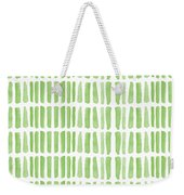 Fresh Grass- Abstract Pattern Painting Weekender Tote Bag by Linda Woods