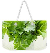 Fresh Herbs In A Glass Weekender Tote Bag