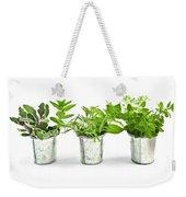 Fresh Herbs In Pots Weekender Tote Bag by Elena Elisseeva