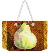 Fresh N Happy Pear Decorative Collage Weekender Tote Bag