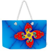 Fresh Orange Red And Blue Abstract Fractal Art Weekender Tote Bag