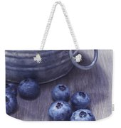 Fresh Picked Blueberries With Vintage Feel Weekender Tote Bag