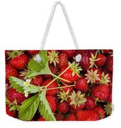Fresh Picked Strawberries Weekender Tote Bag