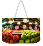 Fresh Pike Place Apples Weekender Tote Bag