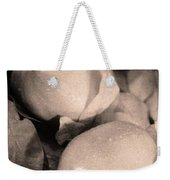 Fresh Quince Distressed Sepia Text Weekender Tote Bag