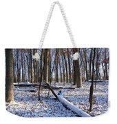 Fresh Snow In The Woods Weekender Tote Bag