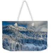 Fresh Snow On The Mountain Weekender Tote Bag