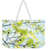 Fresh Spring Green Buds Weekender Tote Bag