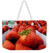 Fresh Strawberries Weekender Tote Bag by Peggy Hughes