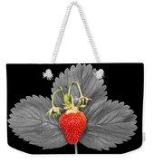 Fresh Strawberry And Leaves Weekender Tote Bag