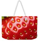 Fresh Strawberry Close-up Weekender Tote Bag by Johan Swanepoel