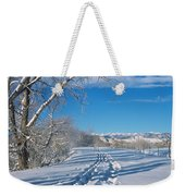 Fresh Tracks Weekender Tote Bag