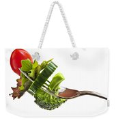 Fresh Vegetables On A Fork Weekender Tote Bag