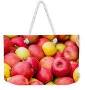 Freshly Harvested Colorful Crimson Crisp Apples On Display At Th Weekender Tote Bag