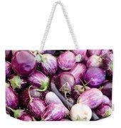 Freshly Harvested Purple Eggplants Weekender Tote Bag