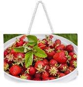 Freshly Picked Strawberries Weekender Tote Bag