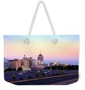 Fresno Skyline Into The Evening Weekender Tote Bag