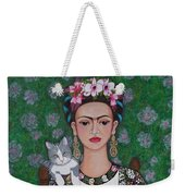 Frida Cat Lover  Weekender Tote Bag
