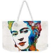 Frida Kahlo Art - Viva La Frida - By Sharon Cummings Weekender Tote Bag