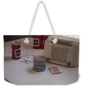 Friday Night Poker Game  Weekender Tote Bag by Edward Fielding
