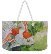 Friendly Fantail Tiny Goldfish Painting Weekender Tote Bag