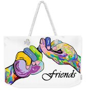 Friends . . . An American Sign Language Painting Weekender Tote Bag by Eloise Schneider