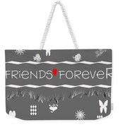 Friends Forever Valentine Weekender Tote Bag