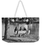 Friends In Black And White Weekender Tote Bag