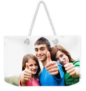 Friends Showing Thumb Up Sign Weekender Tote Bag