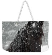 Friesian Snow Weekender Tote Bag by Fran J Scott