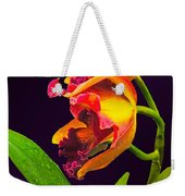 Frilly  Red And Yellow Orchids Weekender Tote Bag