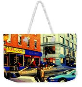 Friperie St.laurent Clothing Variety Dress Shop Downtown Corner Store City Scene Montreal Art Weekender Tote Bag
