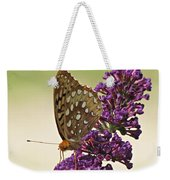 Fritillary Butterfly On Buddleia Weekender Tote Bag