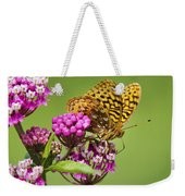 Fritillary Butterfly Square Format Weekender Tote Bag