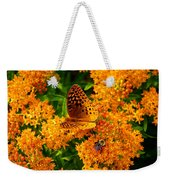 Fritillary On Butterfly Weed Weekender Tote Bag