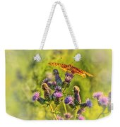 Fritillary On Thistle Weekender Tote Bag