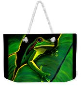 Frog And Leaf Weekender Tote Bag