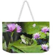 Frog And Water Lilies Weekender Tote Bag