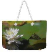 Frog And Water Lily Weekender Tote Bag