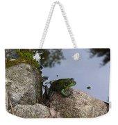Frog At Edge Of Pond Weekender Tote Bag