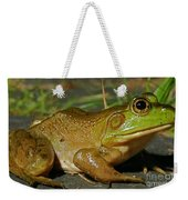 Frog At Night Weekender Tote Bag