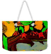 Frog Family Hanging Out On A Limb Weekender Tote Bag