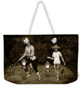 Frog Hunters Black And White Photograph Version Weekender Tote Bag