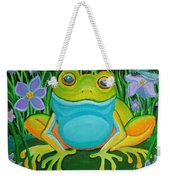 Frog On A Lily Pad Weekender Tote Bag