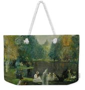 Frog Pond In Boston Public Gardens Weekender Tote Bag