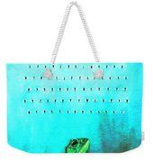 Frog With Flies In Space Invaders Formation Weekender Tote Bag by Fabrizio Cassetta