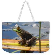 Froggy Reflections Weekender Tote Bag