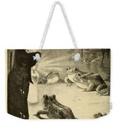 Frogs And Candle Weekender Tote Bag