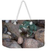 Frogs Imitation And Real  Weekender Tote Bag